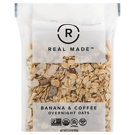 Real Made Oats Bnana And Cffe Sngl - 2.16 Oz