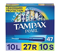 Tampax Pearl Tampons Light Regular & Ultra Triple Pack LeakGuard Unscented - 47 Count