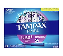 Tampax Pearl Tampons Ultra LeakGuard Unscented - 45 Count