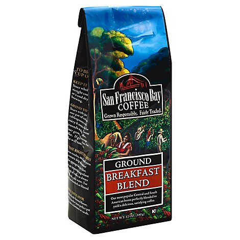 San Francisco Bay Breakfast Blend Ground Coffee - 12 Oz