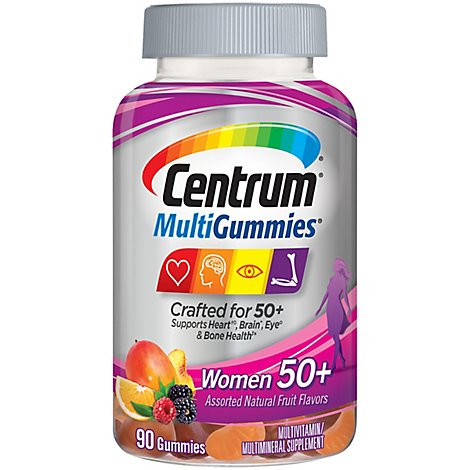 Centrum Multi Womens 50 Plus Gummies - 90 Count