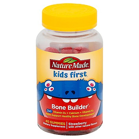 Natures Made Kids First Bone Builder Gummies - 40 Count