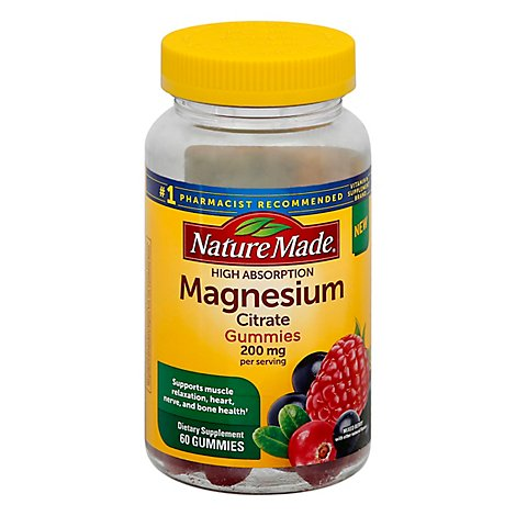 Natures Made Magnesium Gummies 200mg - 60 Count