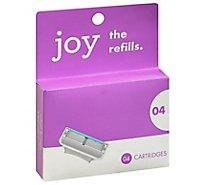 Joy Five Bladed Cartridges Refills - 4 Count