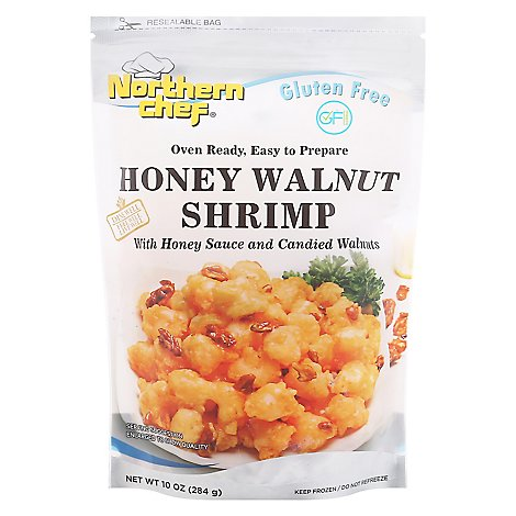 Northern Chef Oven Ready Honey Walnut Shrimp With Honey Sauce & Candied Walnuts - 10 Oz.