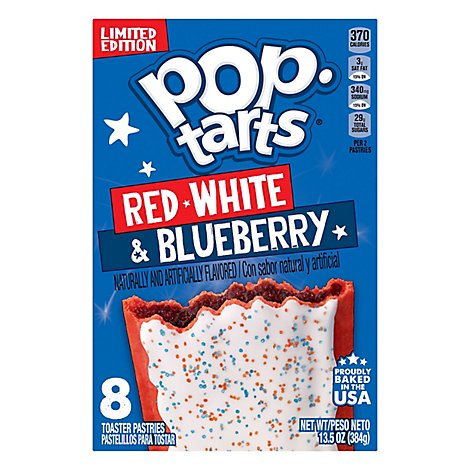 Pop Tarts Toaster Pastries Red White and Blueberry - 13.5 Oz