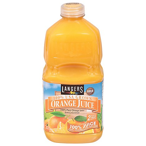 Langers Juice Orange 100% - 64 Fl. Oz.