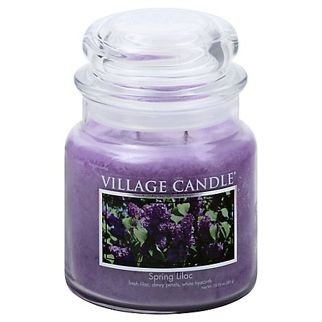 Village Candle Jar Spring Lilac  Jar - 16 Oz