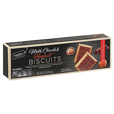 Signature Select Biscuits Milk Chocolate Hazelnut - 5.1 Oz