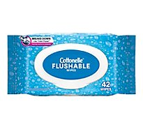 Cottonelle Flushable Wet Wipes Fliptop Pack - 42 Count