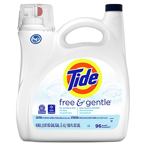 Tide Free & Gentle Laundry Detergent Liquid 96 Loads - 138 Fl. Oz.