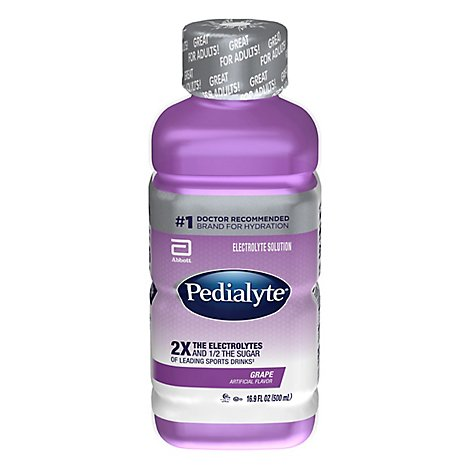 Pedialyte Electrolyte Solution Ready To Drink Grape - 16.9 Fl. Oz.