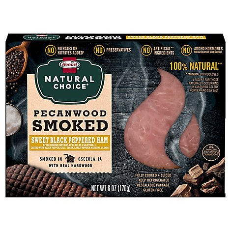 Hormel Natural Choice Pecanwood Smoked Ham With Sweet Black Pepper - 6 Oz.