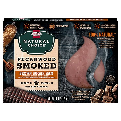 Hormel Natural Choice Pecanwood Smoked Ham With Brown Sugar - 6 Oz.