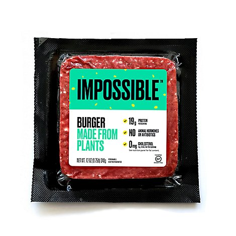 Impossible Made From Plants Burger - 12 Oz.