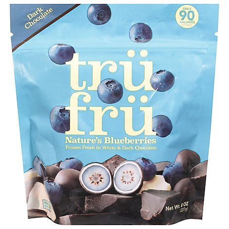 Tru Fru Blueberries In White & Dark Chocolate - 8 Oz