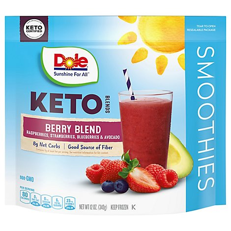 Dole Keto Frozen Fruits For Smoothies Berry Blend - 12 Oz