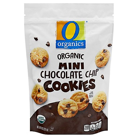 O Organics Cookies Chocolate Chip Mini - 8 Oz