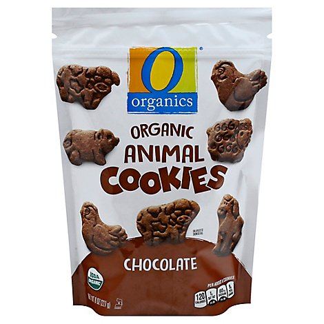O Organics Cookies Animal Chocolate - 8 Oz