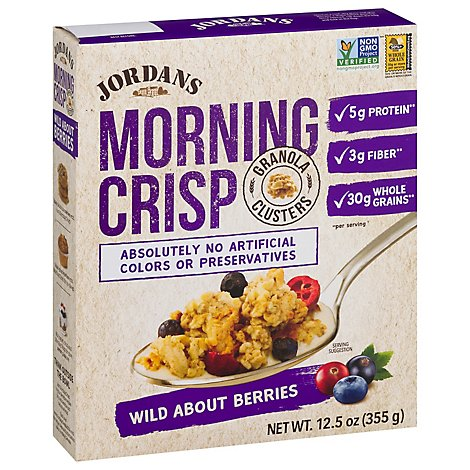 Jordans Cereal Morning Crisp Berry - 12.5 Oz