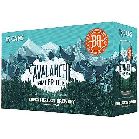 Breckenridge Avalanche Amber In Cans - 15-12 Fl. Oz.