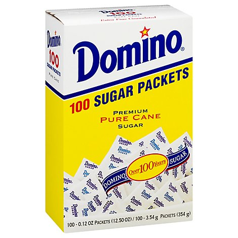 Domino White Sugar Packets - .78 Lb