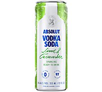 Absolut Lime & Cucumber - 4-355Ml