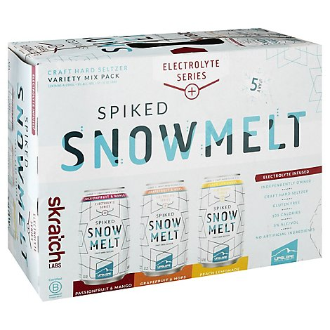 Upslope Spiked Snowmelt Seltzer Electrolyte Variety In Cans - 12-12 Fl. Oz.