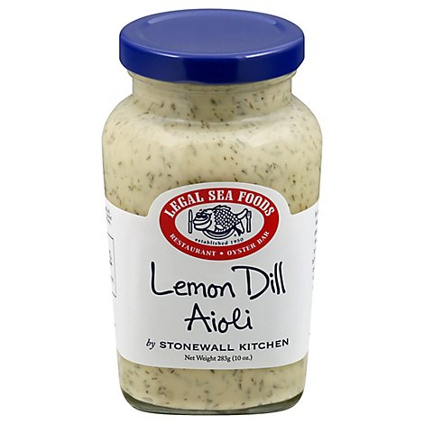 Legal Sea Foods Sauce Aiolo Lemon Dill - 10 Oz