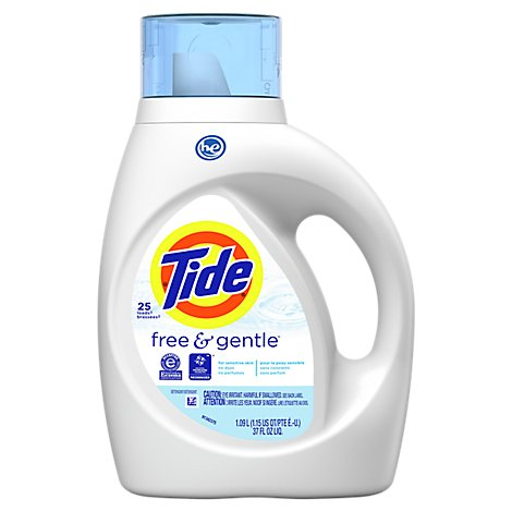 Tide Free & Gentle Laundry Detergent Liquid - 37 Fl. Oz.