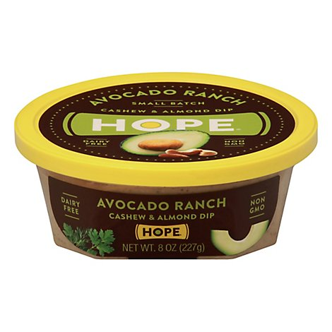 Hope Cashew And Almond Dip Avocado Ranch - 8 Oz