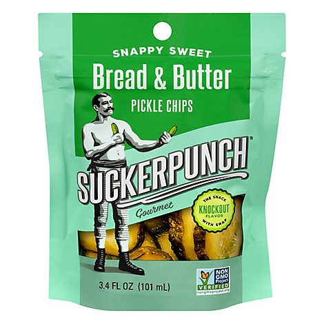 Suckerpunch Pickle Chips Bread Butter - 3.4 Oz