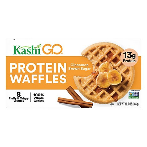 Kashi GO Frozen Waffles Cinnamon Brown Sugar - 10.7 Oz