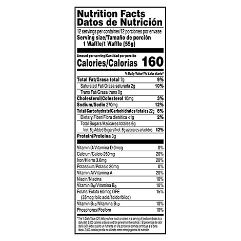 Eggo Waffles Original Recipe Thick & Fluffy Family Pack - 23.2 Oz