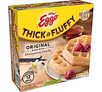 Eggo Thick and Fluffy Frozen Waffles Original Easy Breakfast Family Pack - 23.2 Oz