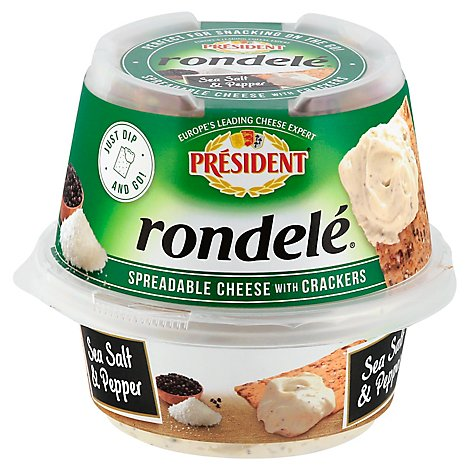 President Rondelle Salt And Pepper With Cracker - 3.28 Oz