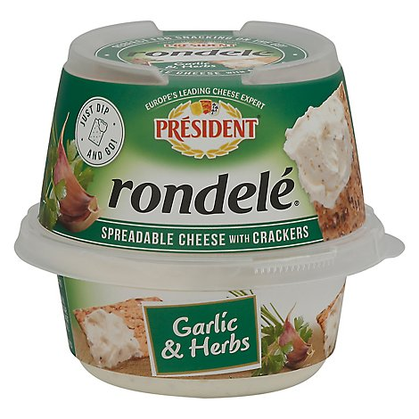 President Rondelle Garlic And Herb With Cracker - 3.28 Oz