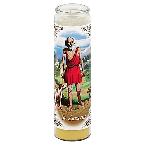Bright Glow Candle Yellow San Lazaro - 1 Each