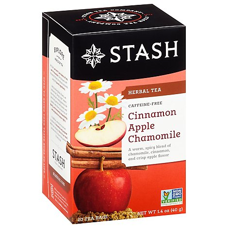 Stash Cinnamon Apple Chamomile Tea 20ct Bags - 20 Count