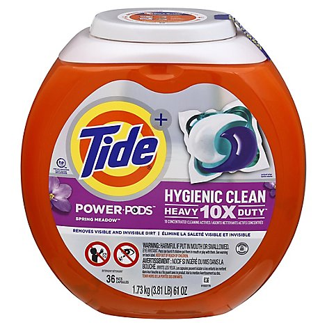 Tide Power Pods Laundry Detergent Pacs Designed For Large Loads Spring Meadow - 36 Count