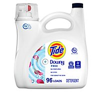 Tide Laundry Detergent Liquid With Downy Free Unscented 89 Loads - 138 Fl. Oz.