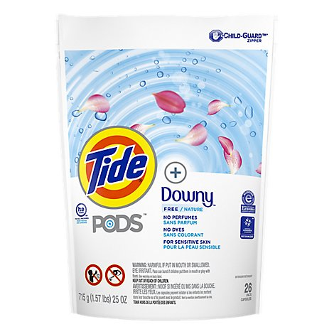 Tide Pods Free Plus Downy Laundry Detergent - 26 Count