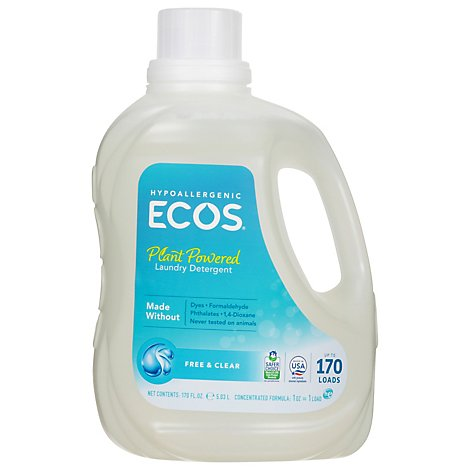 Ecos Free & Clear Liquid Laundry Detergent - 170 Fl. Oz.