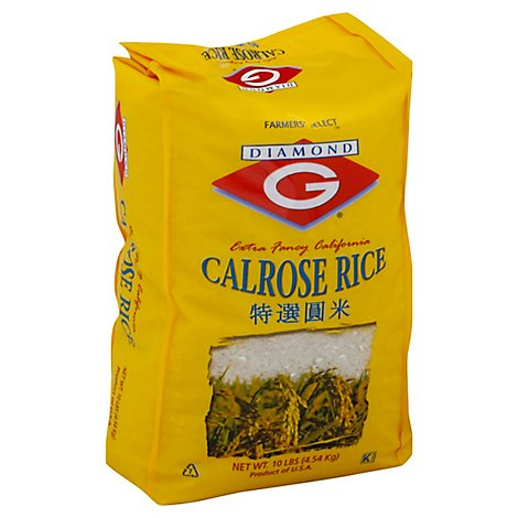 Diamond G Calrose Rice Medium Grain Whit - 10 Lb