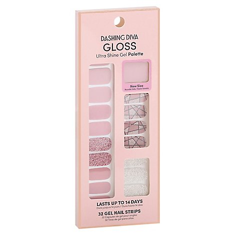 Gs56 Gloss Gel Strip Rose Sparkle - Each