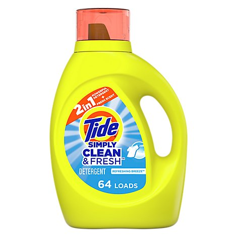 Tide Simply Clean & Fresh Liquid Laundry Detergent Refreshing Breeze - 92 Fl. Oz.