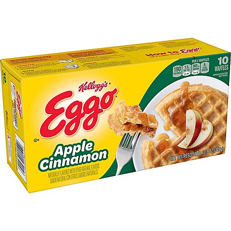 Eggo Frozen Waffles Apple Cinnamon - 12.3 Oz
