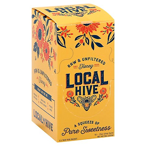 Local Hive 100% Raw & Unfiltered Honey - 9 Oz