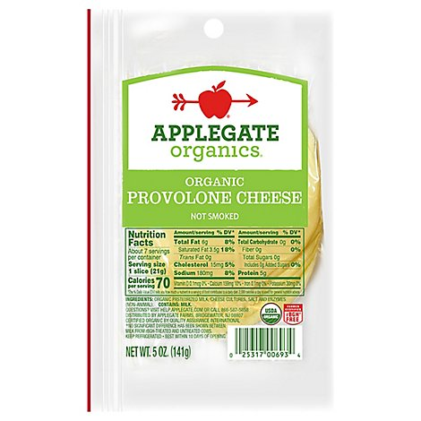 Applegate Organic Provolone Cheese - 5 Oz