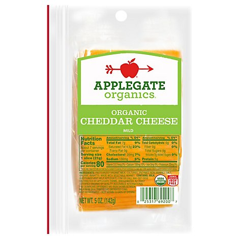 Applegate Farms Organic Mild Cheddar - 5 Oz